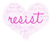 Resist Word Cloud Royalty Free Stock Photography
