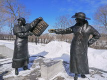 Womens rights statue in Ottawa stock photo