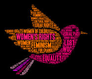 Womens Rights Word Cloud. On a black background Royalty Free Stock Photo