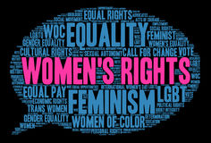 Womens Rights Word Cloud Stock Photography