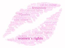 Womens Rights Word Cloud Royalty Free Stock Images