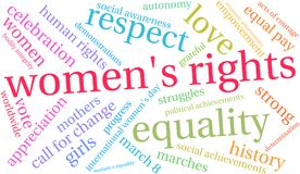 Womens Rights Word Cloud. On a white background Stock Images