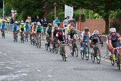Womens road race cycling Stock Photography