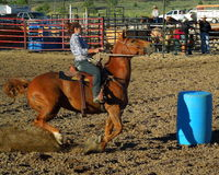 Womens Rodeo Barrel Racing Royalty Free Stock Photos