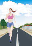 Womens running Royalty Free Stock Image