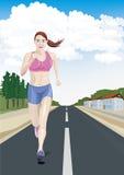 Womens running Royalty Free Stock Image