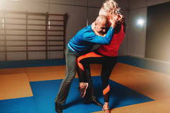 Free Womens Self Defense Workout With Instructor Royalty Free Stock Photography - 94882107