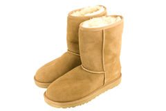 Womens Sheepskin boots Stock Photo