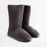 Womens Sheepskin boots Royalty Free Stock Photos