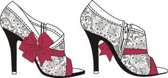 Womens shoes lace Stock Images