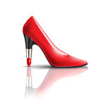 Womens shoes with lipstick heel Stock Photos