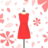 Womens short red dress Royalty Free Stock Photo