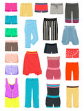 Womens shorts Stock Photos