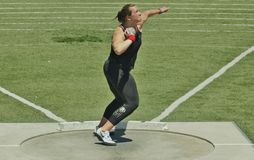 Womens Shot Put at the 2016 Mt. Sac Relays Royalty Free Stock Images
