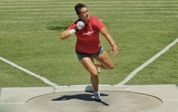 Womens Shot Put at the 2016 Mt. Sac Relays Stock Photography