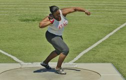 Womens Shot Put at the 2016 Mt. Sac Relays Royalty Free Stock Photography
