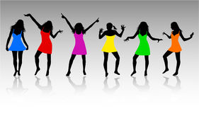 Womens Silhouettes. Jpg + eps 8 Royalty Free Stock Image
