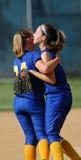 Womens softball celebration Stock Photography