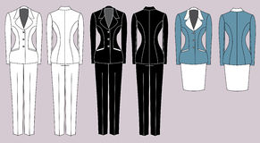 Womens suits Royalty Free Stock Photos