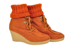 Womens Winter  boots Royalty Free Stock Image
