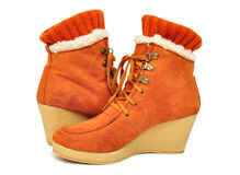 Womens winter boots Stock Photo