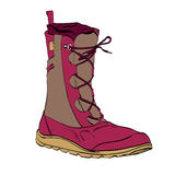 Womens winter warm boots Royalty Free Stock Image