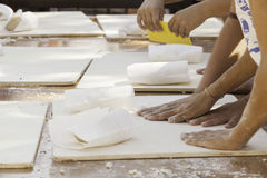 Womens at the work to make bread Stock Images