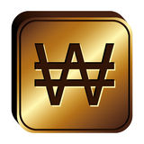 Won currency symbol icon Royalty Free Stock Photos