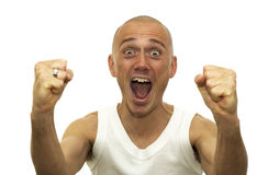 Won The Lottery. This man just won an enormous amount of money and is sooo happy royalty free stock images