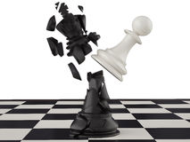 Won a pawn king. King of the head are broken Royalty Free Stock Photo