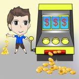 Won slot for money Royalty Free Stock Image