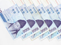 1000 won South Korean bill Royalty Free Stock Photos