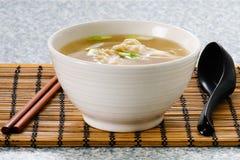 Won Ton Soup. Asian Won Ton Dumpling Soup Stock Photos