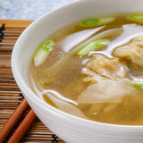Won Ton Soup. Asian Won Ton Dumpling Soup Royalty Free Stock Photo