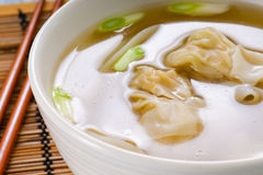Won Ton Soup Stock Photo