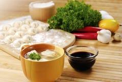 Won-tonsuppe-Asien-Nahrung Lizenzfreies Stockfoto