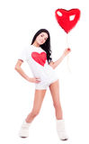 Wonab med en ballong Royaltyfri Bild