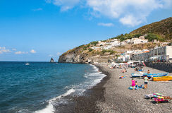 Wondeful day in eolie's island Royalty Free Stock Photography