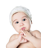 Wonder asian baby boy Royalty Free Stock Image