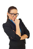 Wonder business woman Royalty Free Stock Photos