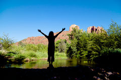 Wonder at Cathedral Rock Stock Photos