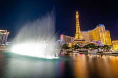 The Las Vegas Strip at Night royalty free stock images