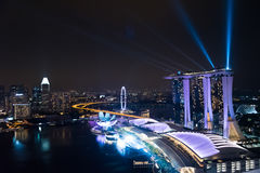 Wonder full - Light and water show, the largest laser show in Southeast Asia Royalty Free Stock Image
