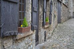 Wonder full Medieval village, France royalty free stock photos