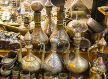 Wonder golden lamp in the grand bazaar Royalty Free Stock Images