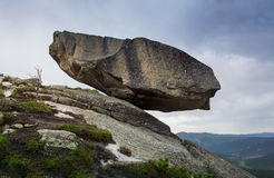 Wonder of Nature. Hanging Stone Kjeragbolten Stock Photos
