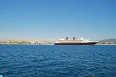 Wonder van Disney bij anker in Cabo San Lucas Stock Fotografie