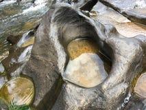 Wonder van het water dat gevormd tot hart leidde stock afbeelding