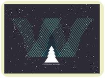 Wonder van Kerstmis in de nachthemel Royalty-vrije Stock Afbeeldingen