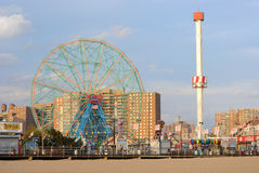 Wonder Wheel Amusement Park Royalty Free Stock Images
